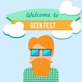 Geek fest flier Royalty Free Stock Photo
