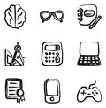 Geek Icons Freehand