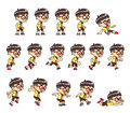 Geeky boy game sprites for side scrolling action adventure endless runner d mobile Royalty Free Stock Photo