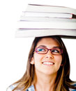 Geeky female student Royalty Free Stock Photo