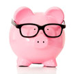 Geeky piggybank Royalty Free Stock Photo