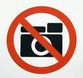 Geen Fotografie??? Stock Afbeelding