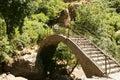 Geghard monastery bridge Royalty Free Stock Photo