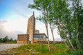 GEILO, NORWAY: Geilo cultural church in the parish of Hol, Geilo, Norway Royalty Free Stock Photo