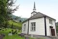Geiranger church and cemeteries norway Stock Photos