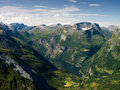 Geiranger fiord Royalty Free Stock Photo