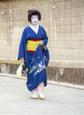 Geisha dans le district de Gion à Kyoto, Japon Photo stock