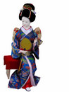 Geisha doll sitting Royalty Free Stock Photo