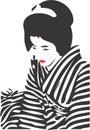 Geisha Face 12 Stock Image