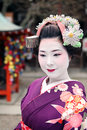 Geisha face japanese in kyoto asia Royalty Free Stock Photo