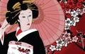 Geisha giapponese Fotografia Stock Libera da Diritti
