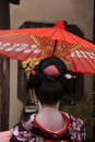 Geisha in Gion, Kyoto Royalty Free Stock Image