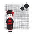 Geisha girl . Tea ceremony Royalty Free Stock Photo