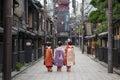 Geisha girls in Japan Royalty Free Stock Photo