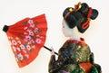 Geisha with red umbrella Royalty Free Stock Photo