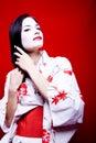 Geisha Setting Hair Stock Photos
