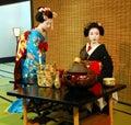 Geisha tea ceremony Royalty Free Stock Photo