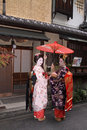 Geishas in Gion, Kyoto Royalty Free Stock Photography