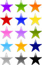 Gel or Glass Star Shape Buttons Royalty Free Stock Image