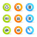 Gel Office Icons (vector) Royalty Free Stock Photo