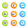 Gel Office Icons (vector) Royalty Free Stock Image
