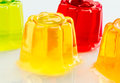 Gelatin colors loose on white base Stock Photography