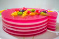 Gelatine Cake Royalty Free Stock Photo