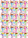 Gelato ice cream and fruit sundaes pattern colorful repeating background with words Royalty Free Stock Photo