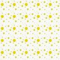 Gelbe und weiße polka dot abstract design tile pattern wiederholung Lizenzfreie Stockfotografie