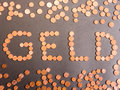 Geld eurocents made into the german word for money for your financial bonus cashback gifts and presents copy note that the money Stock Photo