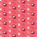 Gelukkig pasen konijn bunny pink seamless background Royalty-vrije Stock Foto's