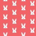 Gelukkig pasen konijn bunny pink seamless background Royalty-vrije Stock Afbeeldingen