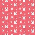 Gelukkig pasen konijn bunny pink seamless background Stock Afbeelding