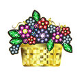 Gem Baskets Of Flowers Foto de archivo
