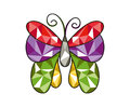 Gem butterfly illustration of a with beautiful and colorful wings Stock Photography