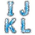 Gem letter I J K L