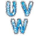 Gem letter U V W