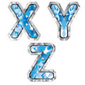 Gem letter X Y Z Royalty Free Stock Image