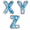 Gem letter X Y Z