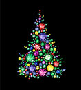 Gem tree christmas made of gems Royalty Free Stock Images