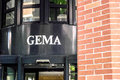 Gema sign above the entrance to the offices in munich right next to the gasteig Royalty Free Stock Photography