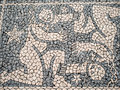 Gemini figure stone pavement with zodiac design Royalty Free Stock Photography