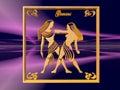 gemini horoskop Zdjęcia Stock
