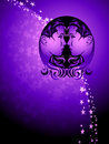 Gemini zodiac background Royalty Free Stock Photo