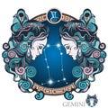 Gemini. Zodiac sign Royalty Free Stock Photo