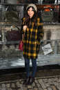 Gemma chan arriving for the opening of the somerset house ice rink london picture by steve vas featureflash Stock Photo