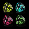 Gems isolated on a black background bright Stock Photo