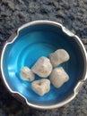 Gems quartz crystals left on ice Royalty Free Stock Photo
