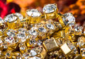 Gems and treasures shiny background Royalty Free Stock Photos