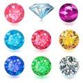 Gemstone jewelry set
